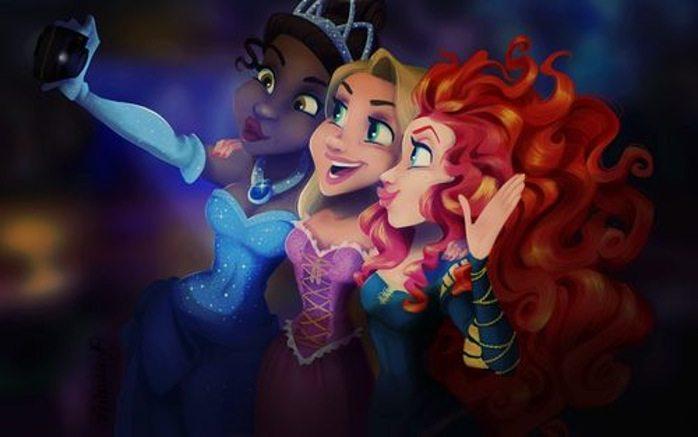 Tiana, Rapunzel, & Merida. Photo credit: astoldbylaura.wordpress.com.