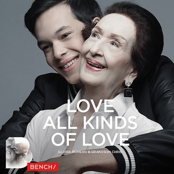 Chris Gutierrez Gloria Romero Love All Kinds of Love Paint their Hands Back Bench Billboard Guadalupe