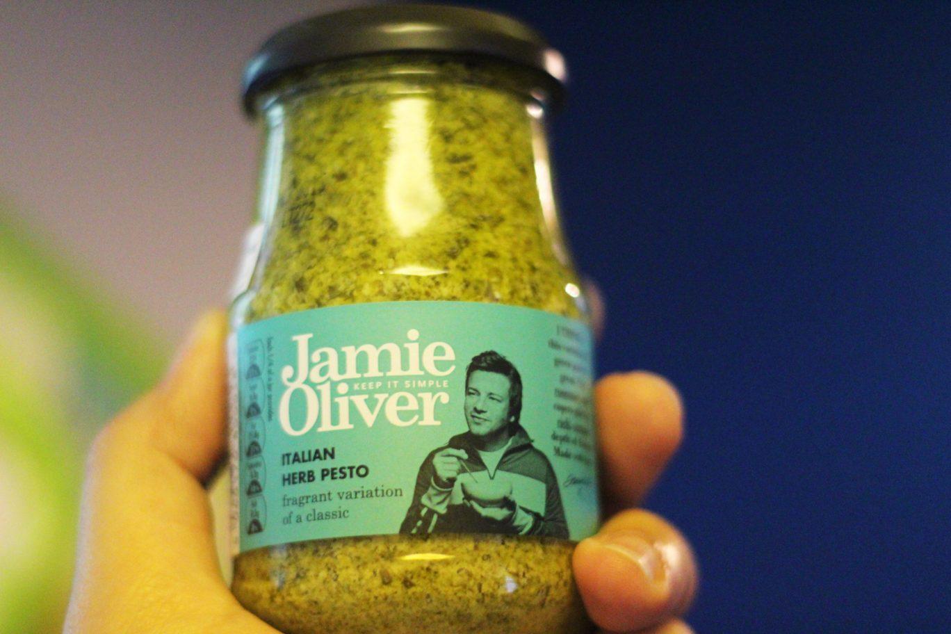 Jamie Oliver's Pesto Sauce in a jar