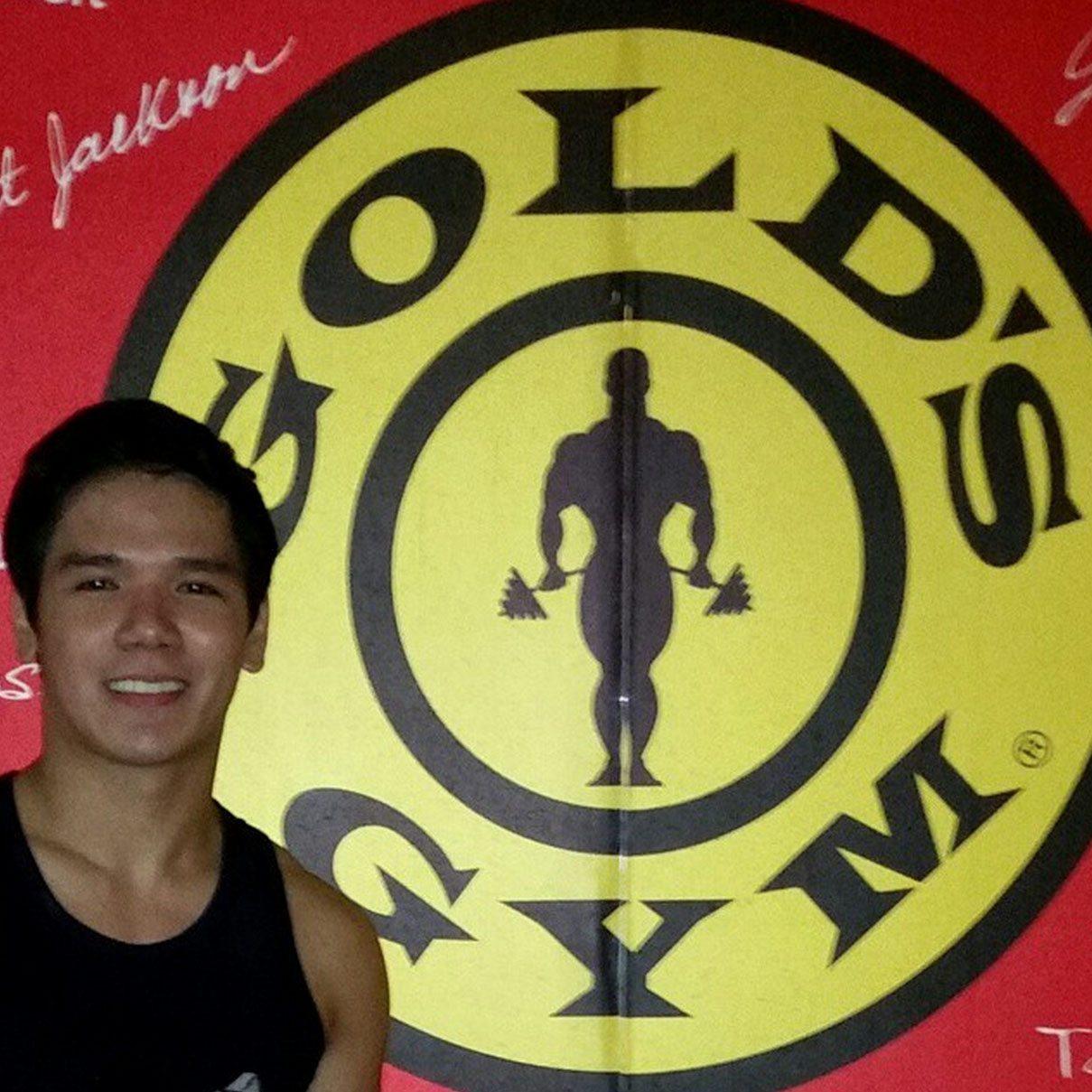 gerald santos goes to golds gym