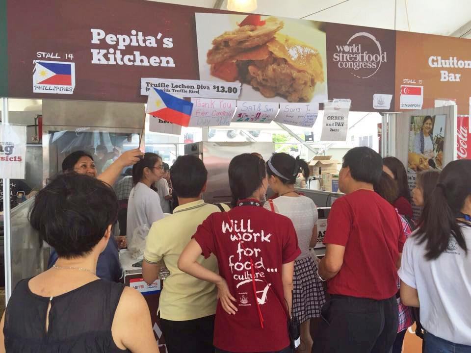 filipino stall lechon in world streetfood congress singapore 2015