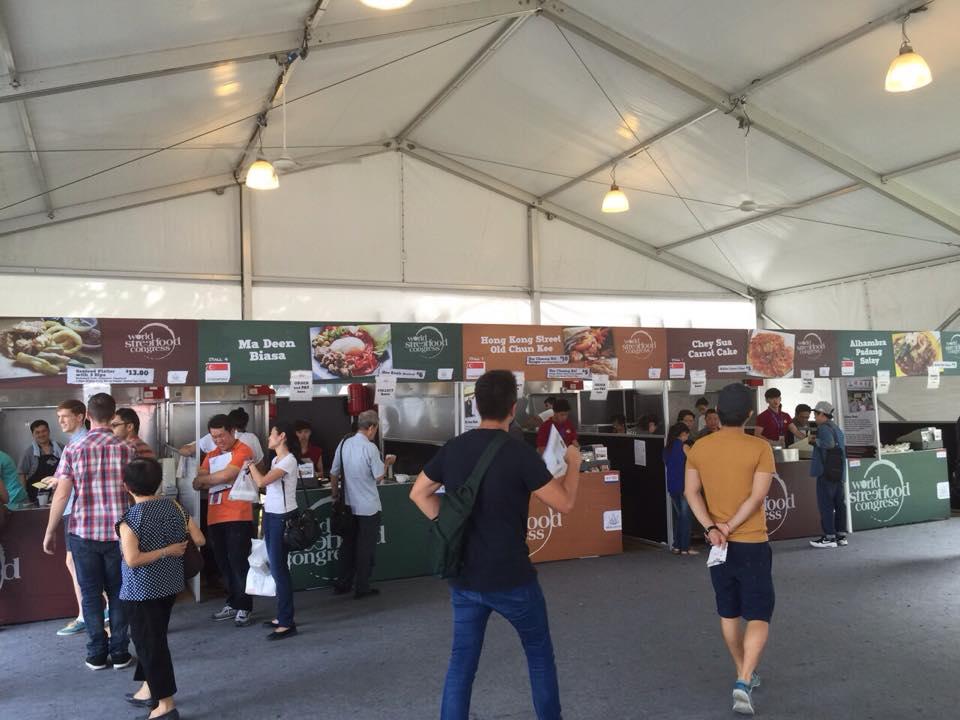 stalls at world streetfood congress 2015