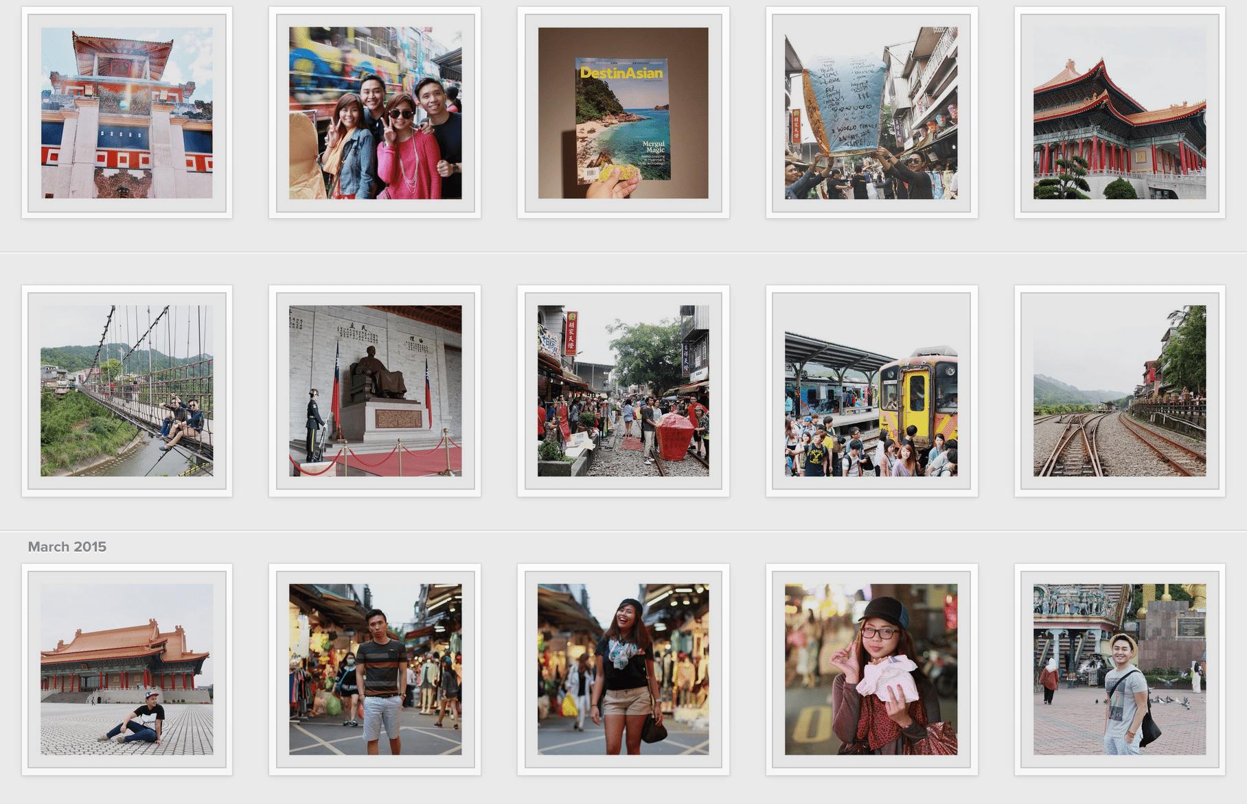 travel photos on Instagram