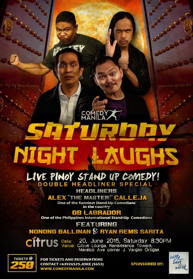 Ryan Rems Sarita Comedy Manila Stand Up Comedy