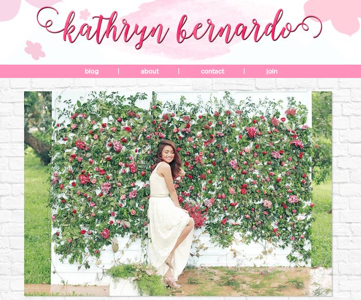Kathryn Bernardo Blog KathBernardo.com KathNiel