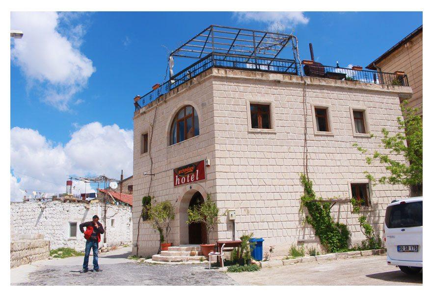 arch palace hotel in goreme cappadocia turkey with serdar the owner turk