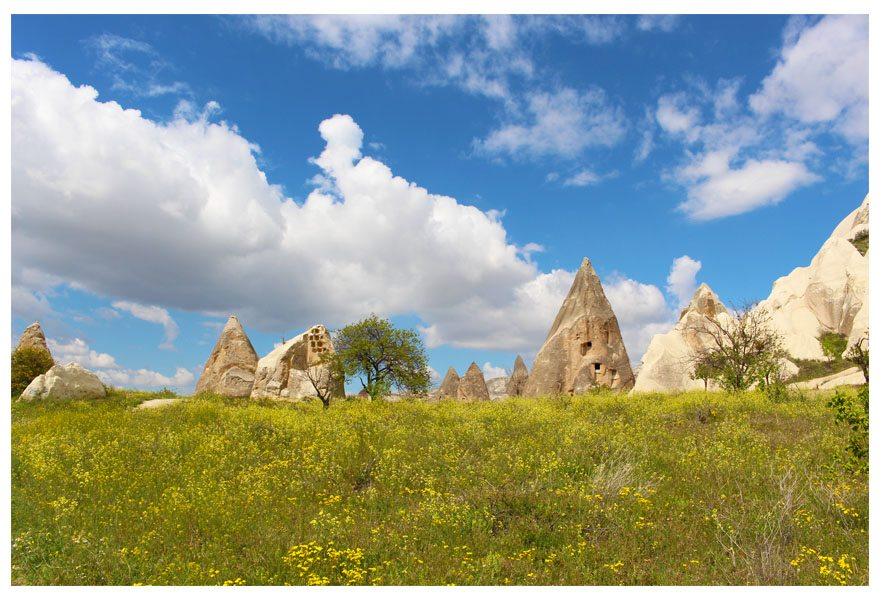 fairy chimeneys rocks goreme cappadocia turkey