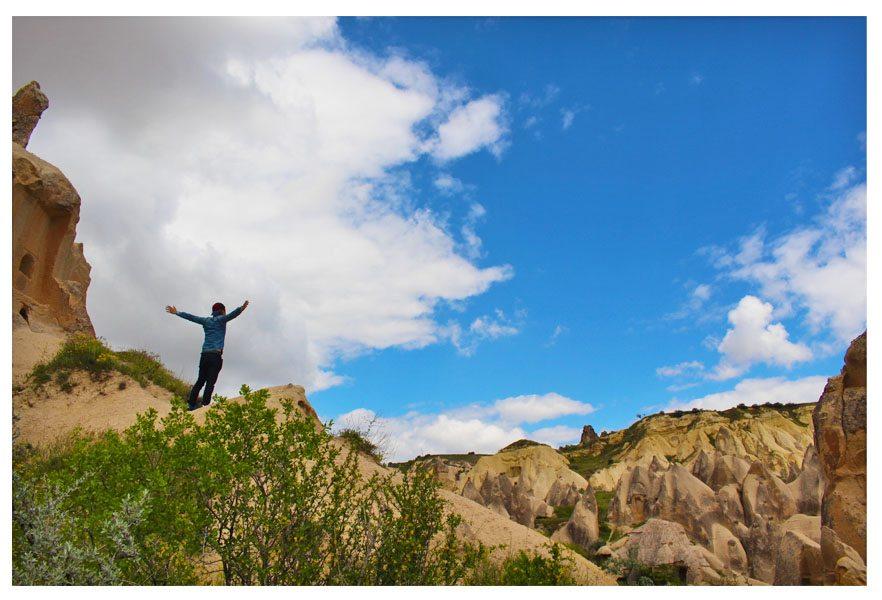 on top of rock goreme cappadocia turkey