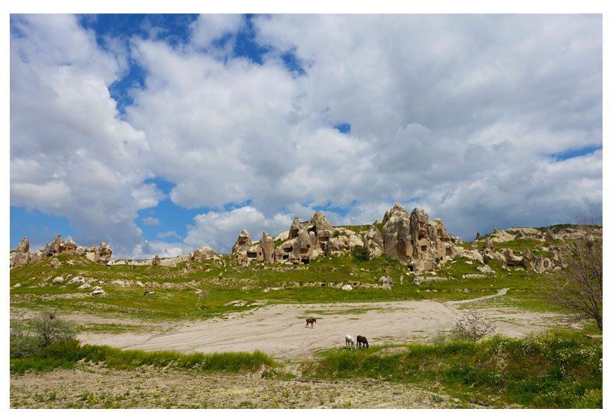 rocks valleys in cappadocia turkey