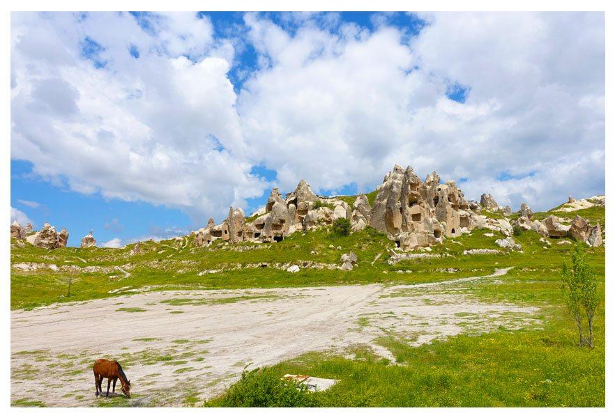 travel to beautiful cappadocia turkey landscape rocks