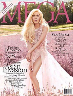 vica ganda on the cover of mega