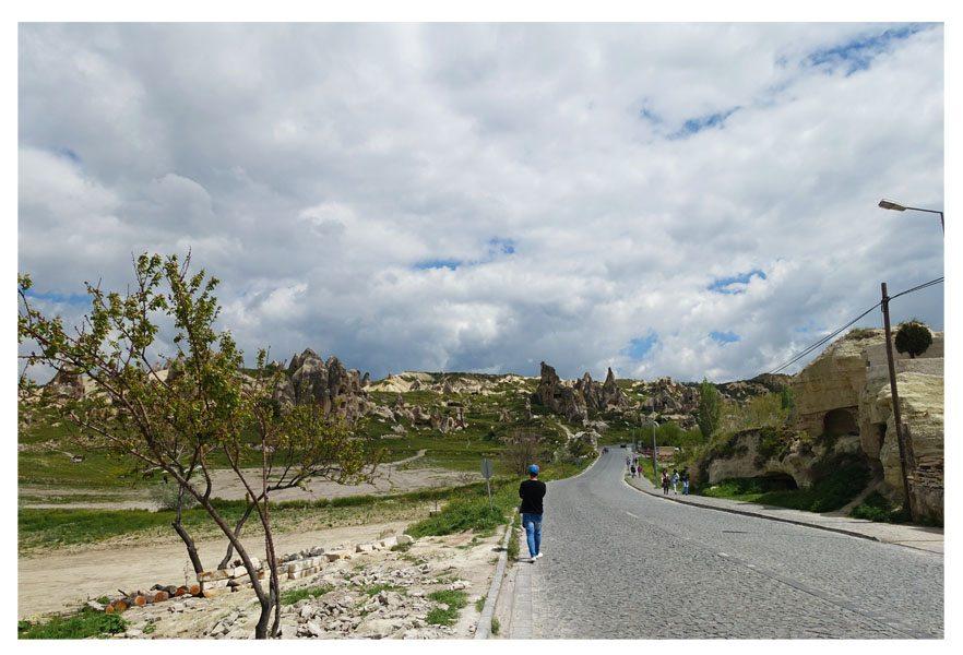 walking to goreme national park cappadocia turkey