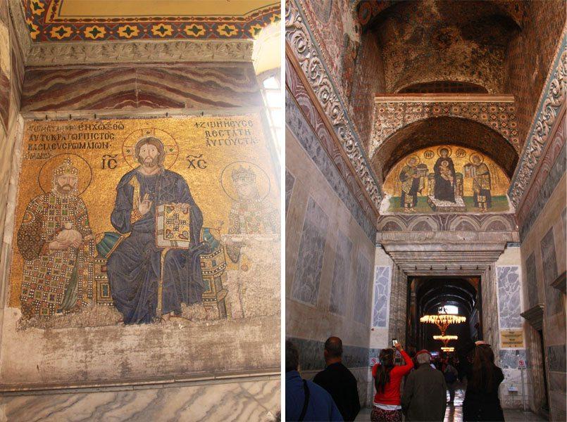 hagia sophia jesus christ wall murals paintings byzantine art