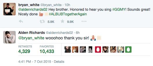 Bryan White Aldub Alden Richards God Gave Me You december concert Bryan White Tweets Alden 1