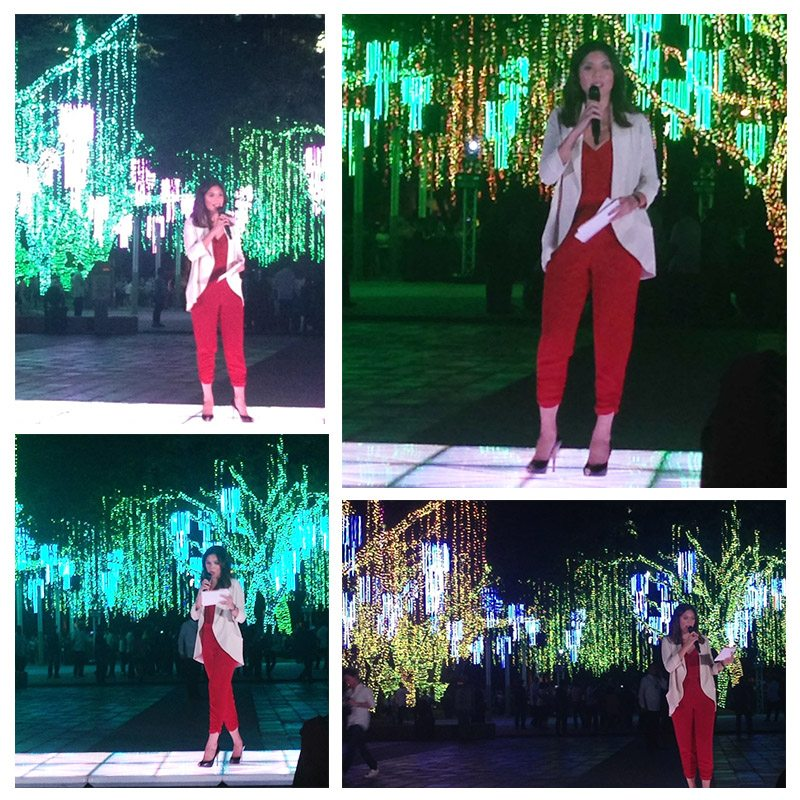 Ginger Conejero Ayala Triangle Gardens Christmas Lights show Lights and sounds Makati philippine stock exchange Ayala Triangle festival of Lights 2015 6-10PM