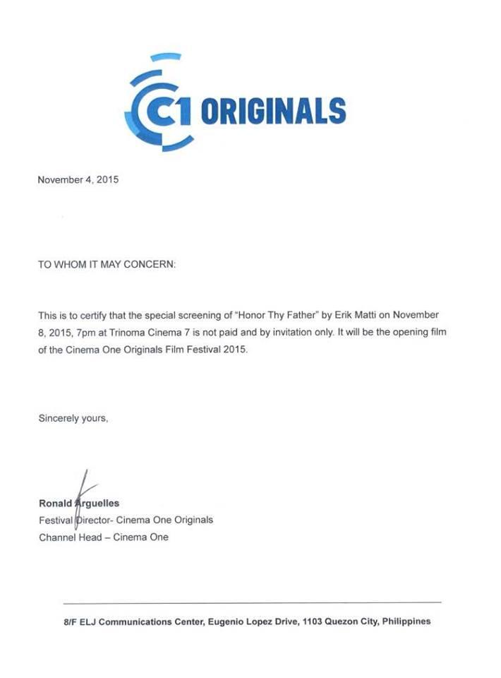 Honor Thy Father Disqualified Disqualification MMFF 2015 John Lloyd Cruz Dondon Monteverde Cinema One Originals 4