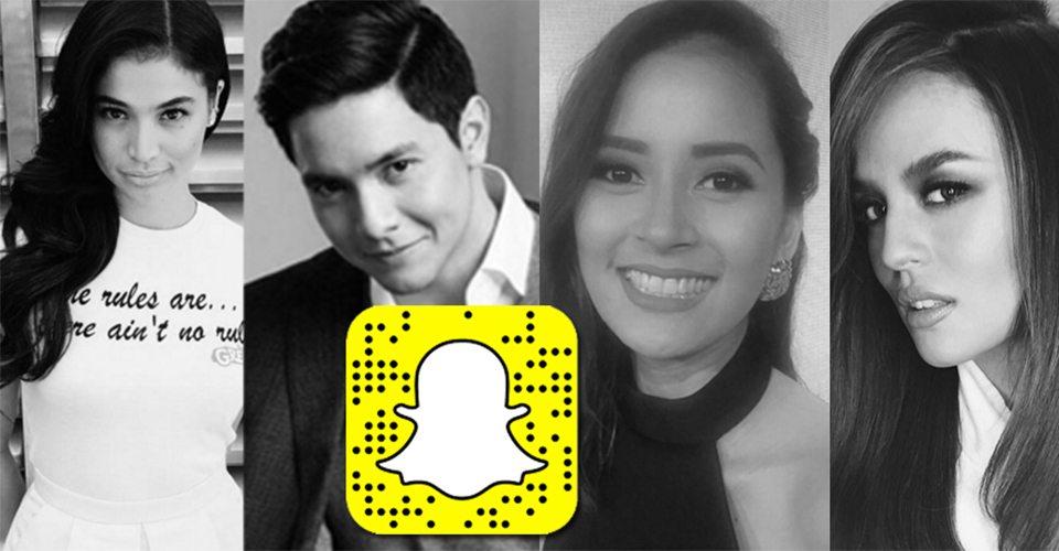 Part 1: 30 Pinoy Celebrities to Follow on Snapchat | Random