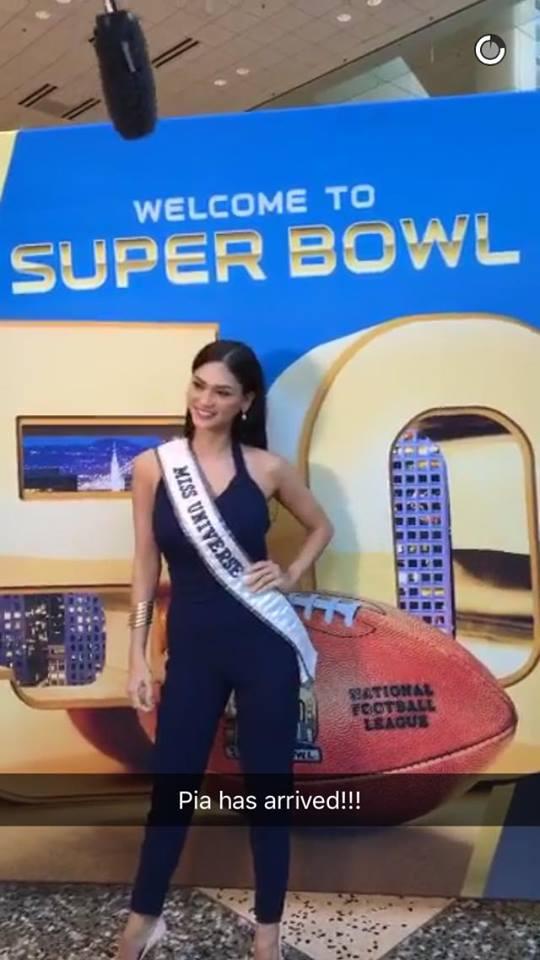 Pia Wurtzbach Miss Universe 2015 Super Bowl 50 Inside Edition Special Correspondent 6
