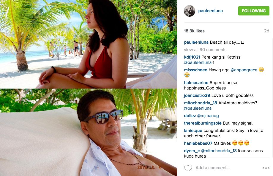 Vic Sotto Pauleen Luna Honeymoon Maldives Pictures Bossing Eat Bulaga Dabarkads 6