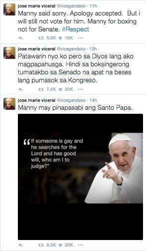 Vice Ganda Manny Pacquiao Same Sex Marriage Views Twitter Masahol Pa sa Hayop 1