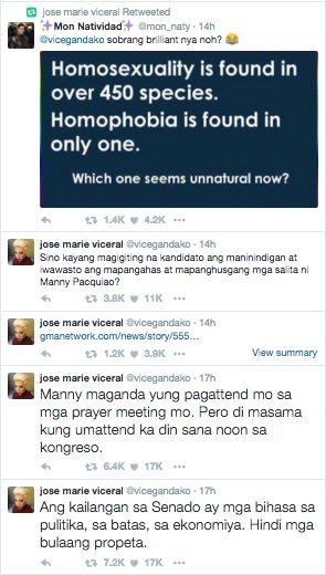 Vice Ganda Manny Pacquiao Same Sex Marriage Views Twitter Masahol Pa sa Hayop 2