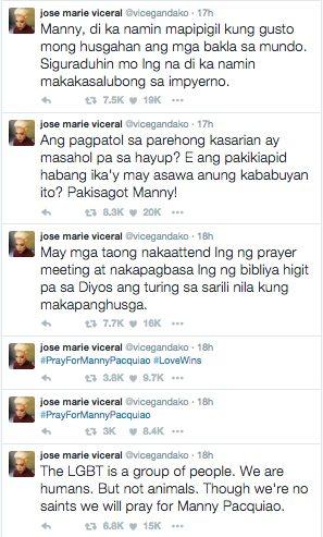 Vice Ganda Manny Pacquiao Same Sex Marriage Views Twitter Masahol Pa sa Hayop 3