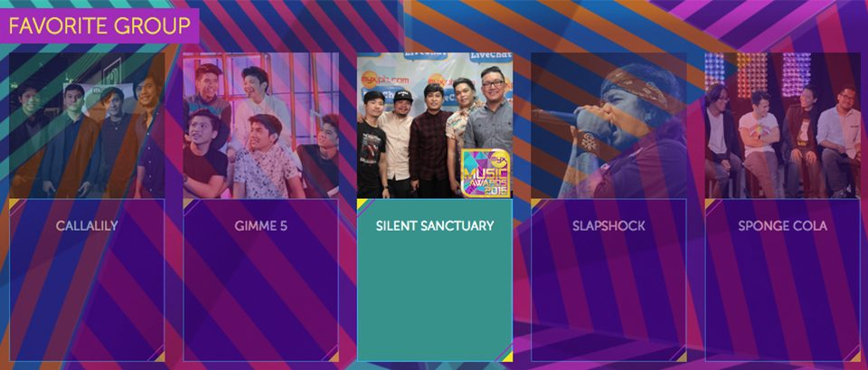 2016 Myx Music Awards Winners Favorite Group Silent Sanctuary