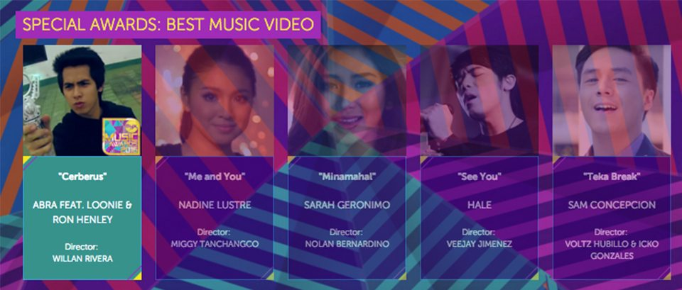 2016 Myx Music Awards Winners Special Awards Best Music Video Abra Cerberus featuring Looney Ron Henley