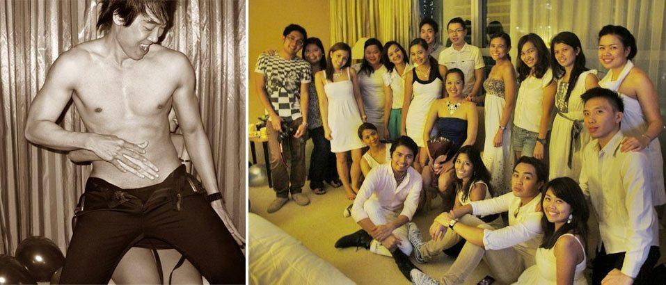 bachelorette party in conrad singapore with male singaporean stripper