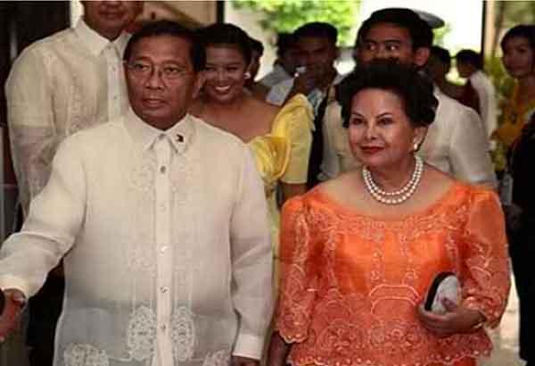 jejomar binay with wife elenita binay