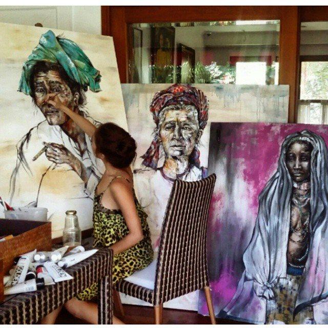 solenn heussaff's art paintings