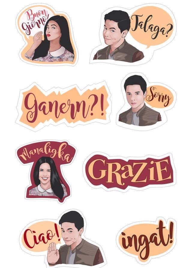 Download Viber stickers Aldub Alden Richards Maine Mendoza Imagine You and me Viber stickers Italian Andrew Gara 1