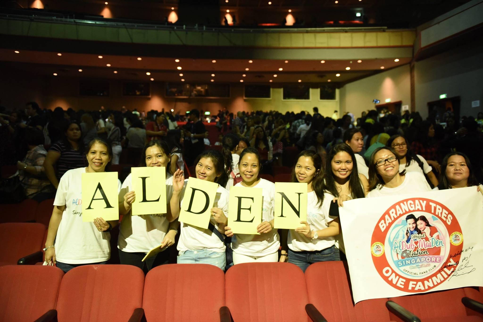 aldenatics in singapore fans