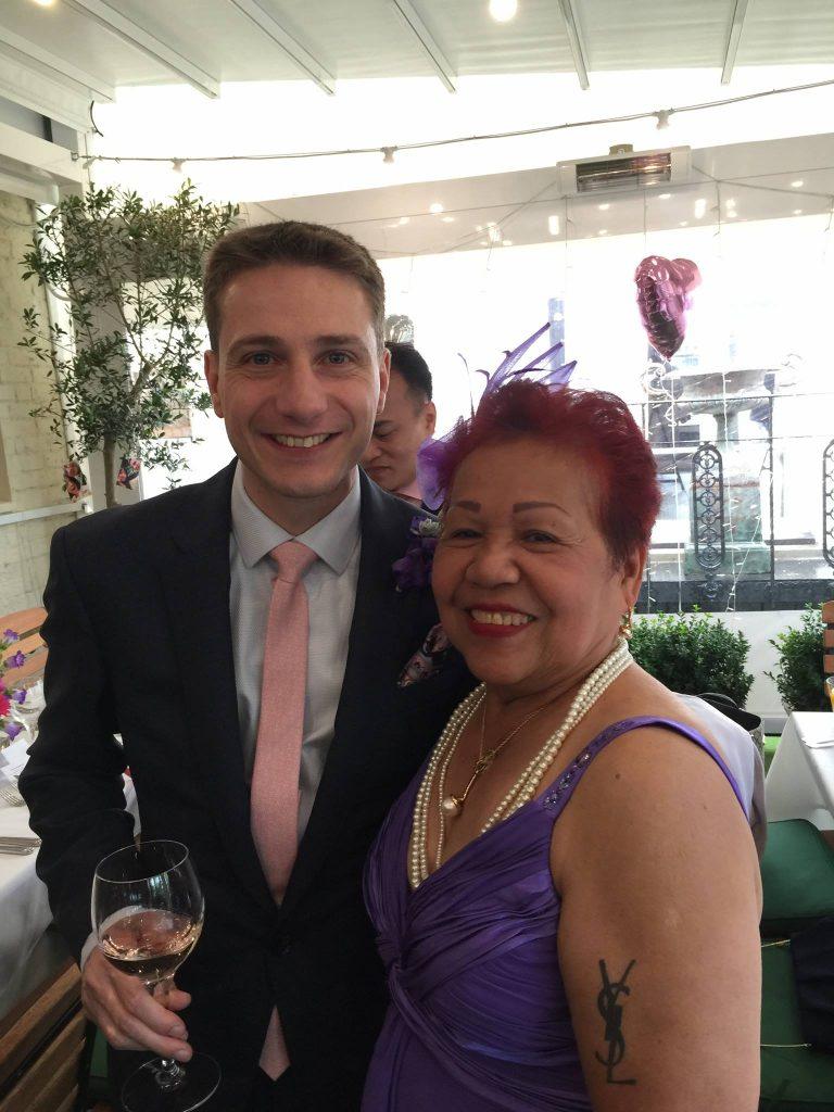 ate glow husband wedding ceremony in london