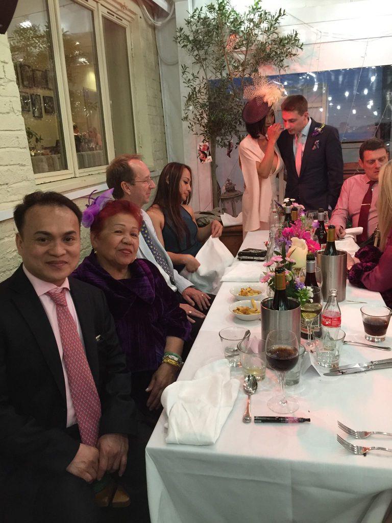 ate glow husband wedding ceremony in london rene boy facunla venue