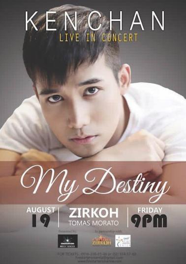 Ken Chan My Destiny Concert August 19 Zirkoh Tomas Morato RandomRepublika.com