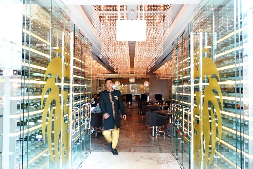chandelier punjab grill indian restaurant marina bay sands chef bar lunch buffet