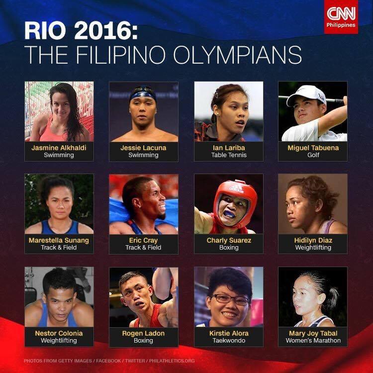 filipino delegates rio olympis 2016 philippines