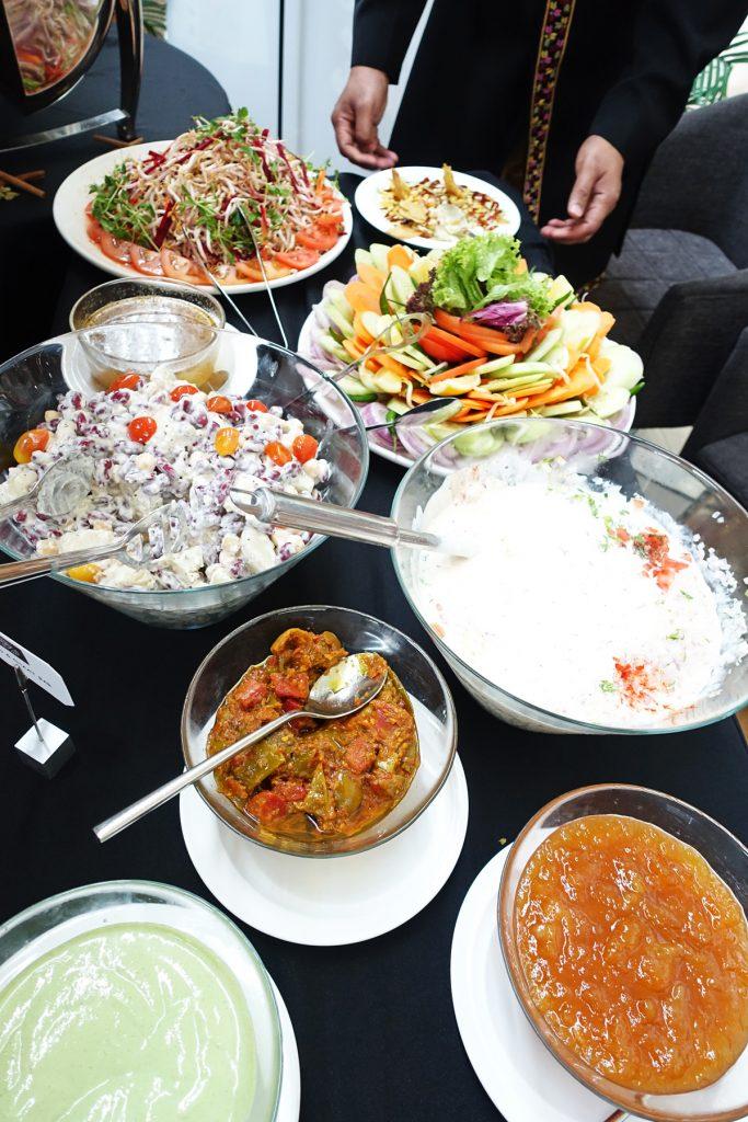 salad bar punjab grill indian restaurant marina bay sands chef bar lunch