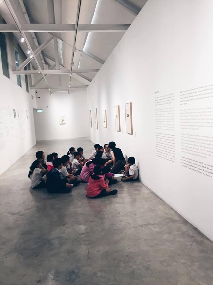 stpi gallery exhibit singapore children tour school kids