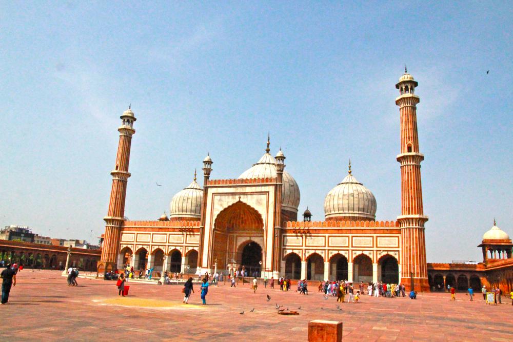 muslim-mosque-delhi-jama-masjid-full-front-view