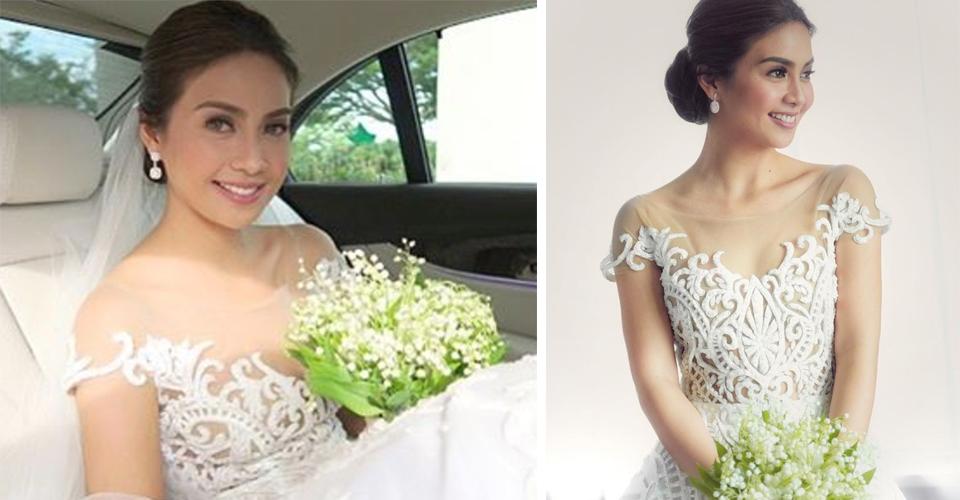 LOOK: Kaye Abad\'s Bridal Makeup and Francis Libiran Wedding Gown ...