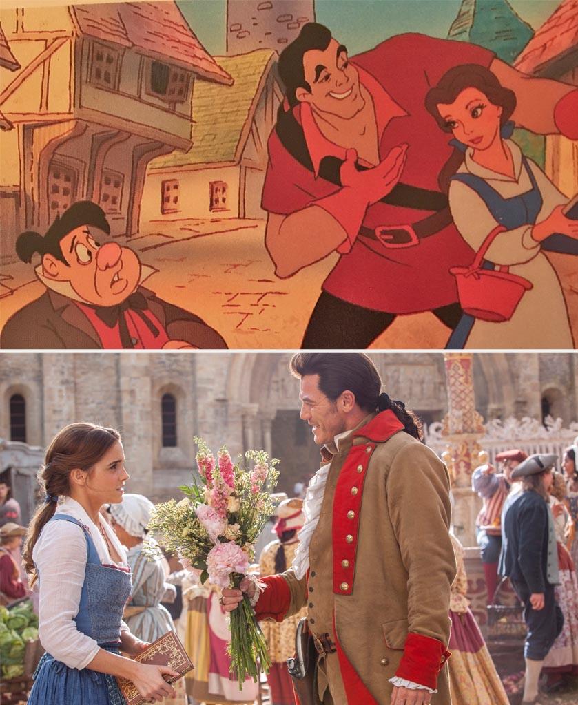 Beauty And The Beast Belle Emma Watson Luke Evans Gaston Edited 1