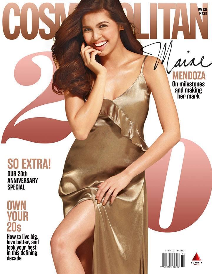 Look maine mendoza goes solo as cosmo ph 39 s 20th for Anniversary magazine
